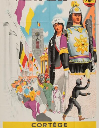 Affiche de la Ducasse 1952