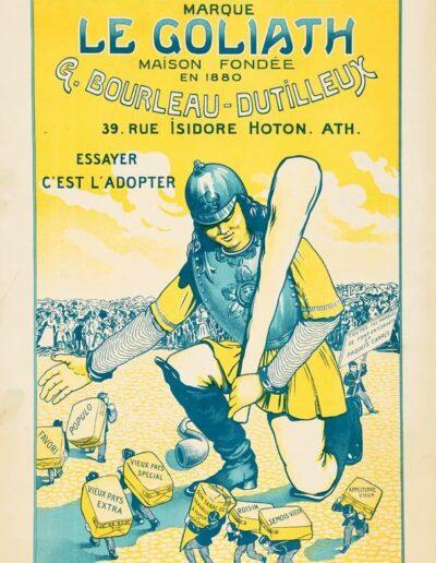 """Affiche publicitaire pour le tabac """"Le Goliath"""""""